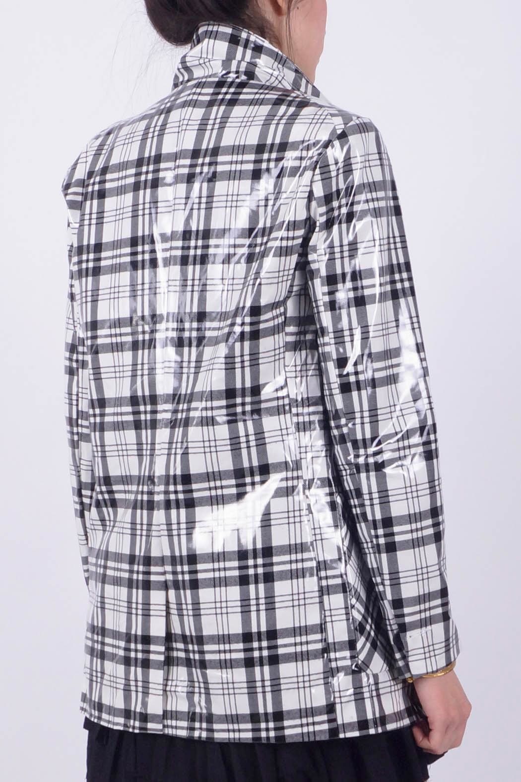NU New York Plaid 1 Button - Front Full Image