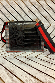 Sondra Roberts Plaid & Snakeskin Crossbody - Product Mini Image