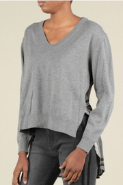 Current Air Plaid back sweater top - Product Mini Image