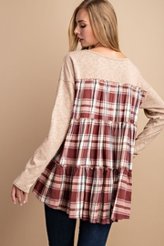 Lyn-Maree's  Plaid Back Swing Top - Front full body