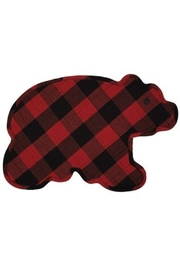 Park Designs Plaid Bear Placemat - Product Mini Image