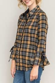 Hem & Thread Plaid Bell Sleeve - Product Mini Image