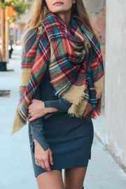 Leto Plaid Blanket Scarf - Product Mini Image