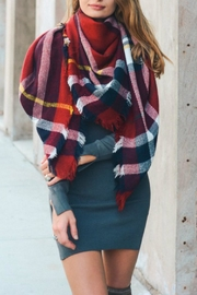 Pretty Little Things Plaid Blanket Scarf - Product Mini Image