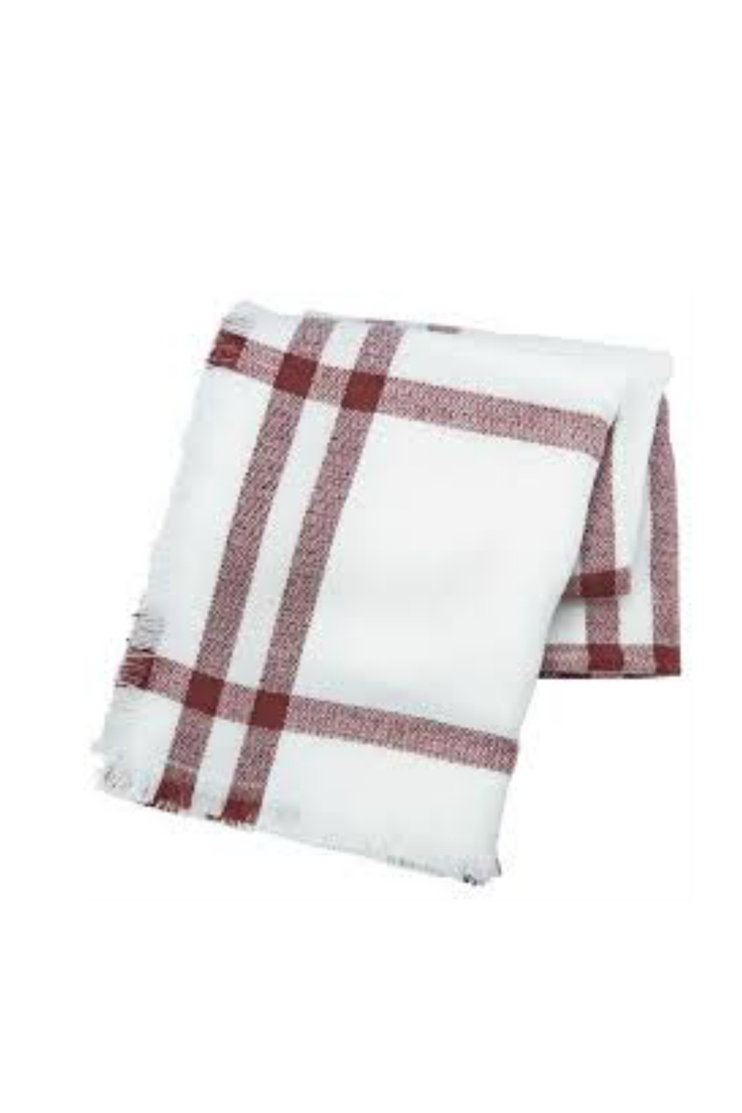 Mud Pie Plaid Blanket Scarf - Front Cropped Image