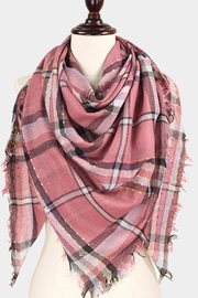 TIGERLILY Plaid Blanket Scarf - Front cropped