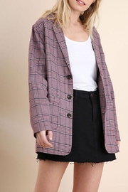 Umgee Plaid Blazer Jacket - Product Mini Image