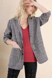 Umgee USA Plaid Blazer Jacket - Product Mini Image