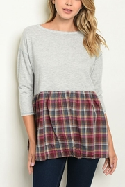 Lyn -Maree's Plaid Block Top - Front cropped