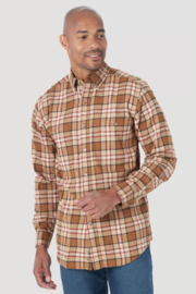 Wrangler Plaid Blue Ridge Flannel - Front cropped