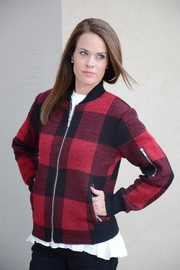 Keren Hart Plaid Bomber Jacket - Product Mini Image