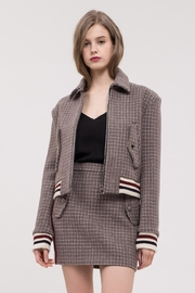 J.O.A. Plaid Bomber Jacket - Product Mini Image