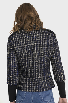 Joseph Ribkoff PLAID BOUCLE JACKET - Alternate List Image