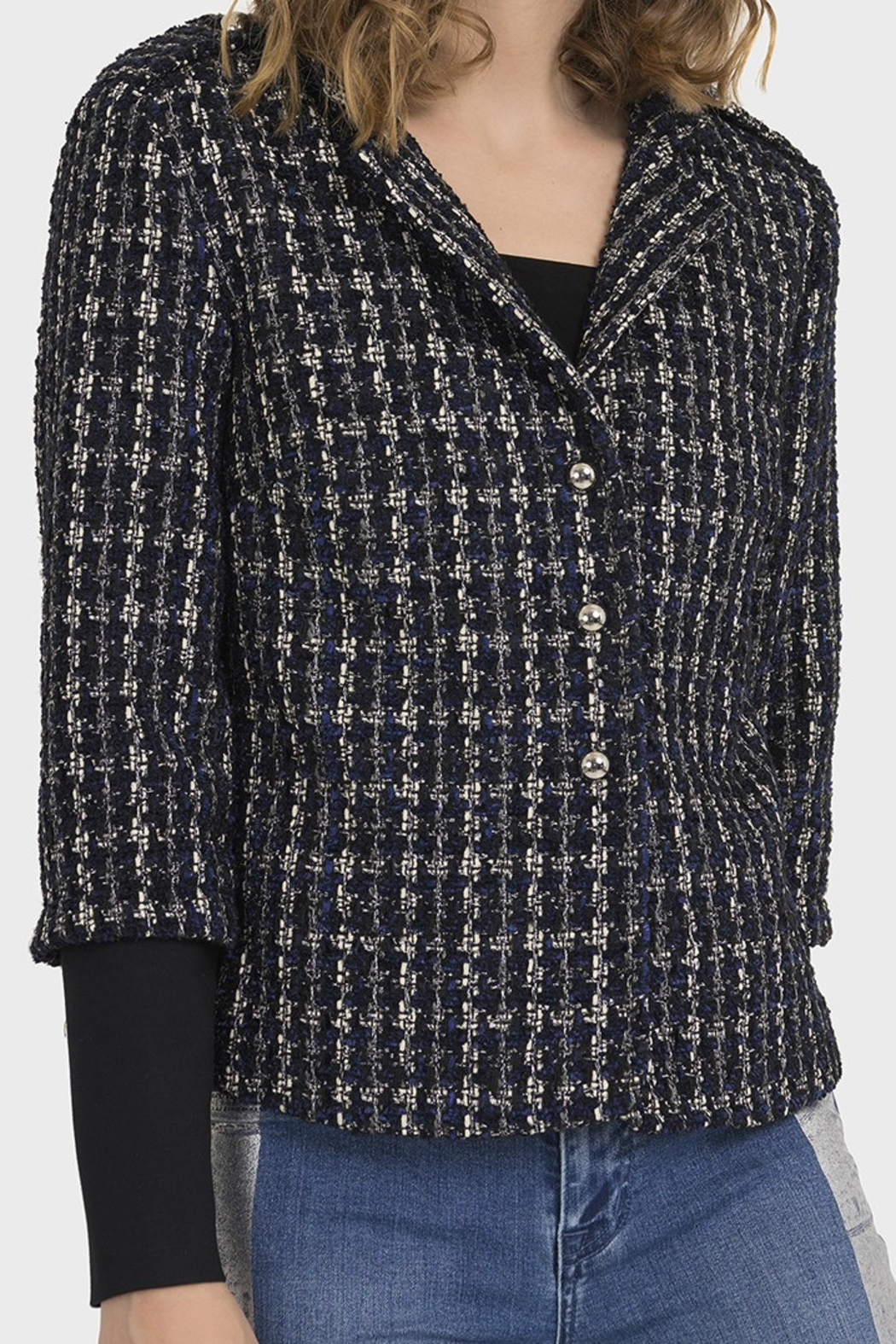 Joseph Ribkoff PLAID BOUCLE JACKET - Main Image