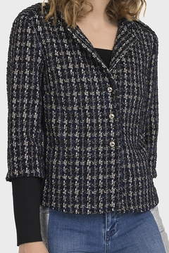 Joseph Ribkoff PLAID BOUCLE JACKET - Product List Image