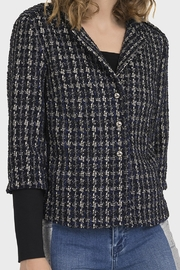 Joseph Ribkoff PLAID BOUCLE JACKET - Front cropped