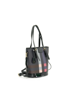 Shoptiques Product: Plaid Bucket Style Handbag