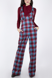 Voodoo Vixen Plaid Buckle Jumpsuit - Product Mini Image