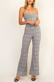 Olivaceous Plaid Bustier Jumpsuit - Product Mini Image