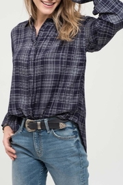 Blu Pepper Plaid Button Down - Product Mini Image