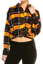 Deco Style Plaid Button Down - Product Mini Image