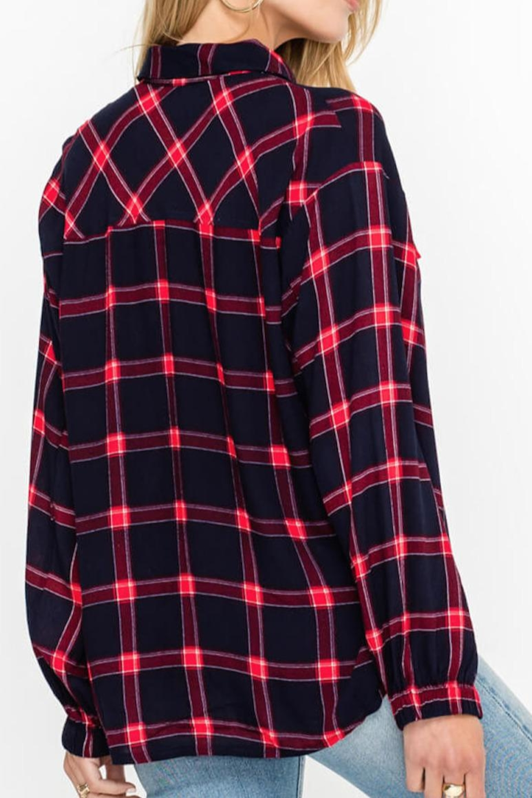 Lush Clothing  Plaid Button Down - Front Full Image