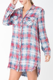 Sneak Peek Plaid Button-Down Dress - Product Mini Image