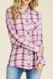 Staccato Plaid Button-Down Shirt - Front cropped