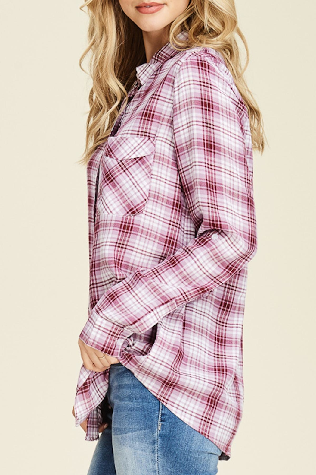 Staccato Plaid Button-Down Shirt - Front Full Image