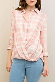 Entro Plaid Button-Down Shirt - Front cropped