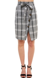 Mystic Plaid Button-Down Skirt - Product Mini Image
