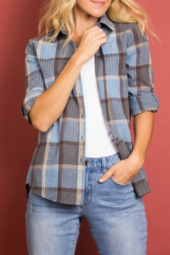 Shoptiques Product: Plaid Button-Down Top