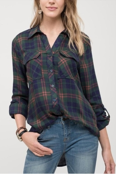 Blu Pepper Plaid Button Pocket - Product List Image