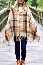 Truly You Plaid Button Scarf - Product Mini Image