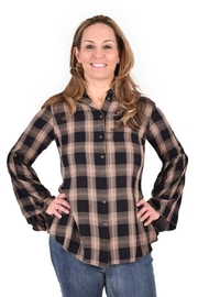 Ethyl Plaid Button Shirt - Product Mini Image