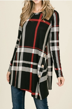 Reborn J Plaid Button Top - Product List Image