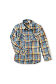 Tea Collection Plaid Button Up - Front cropped