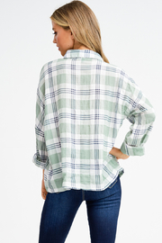 MONTREZ PLAID BUTTON UP - Side cropped