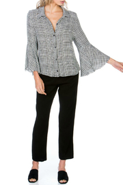 Maven West Plaid Button Up Bell Sleeve Top - Product Mini Image