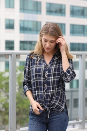 Olive Hill Plaid Button-Up Blouse - Product Mini Image
