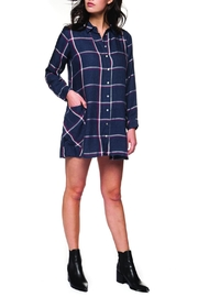 Dex Plaid Button-Up Dress - Product Mini Image