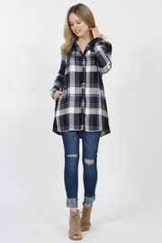 Timing Plaid Button-up Long Sleeve Shirts - Product Mini Image