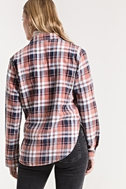 White Crow Plaid Button-Up Top - Side cropped
