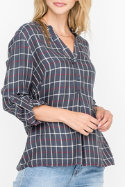 All In Favor Plaid Buttoned Tunic Shirt - Product Mini Image