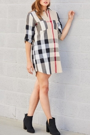 Entro Plaid Buttonfront Dress/tunic - Product Mini Image