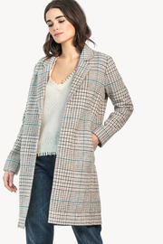 Lilla P Plaid Car Coat - Product Mini Image