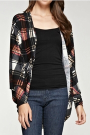 Viamor Plaid Cardi - Product Mini Image
