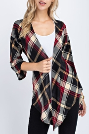 12pm by Mon Ami Plaid Cardigan - Front full body