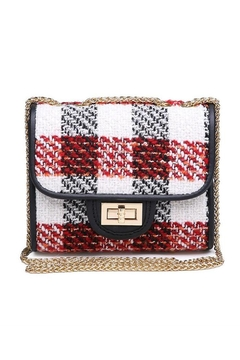 Shoptiques Product: Plaid Chain Crossbody