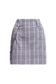 Renamed Clothing Plaid Chain Skirt - Product Mini Image
